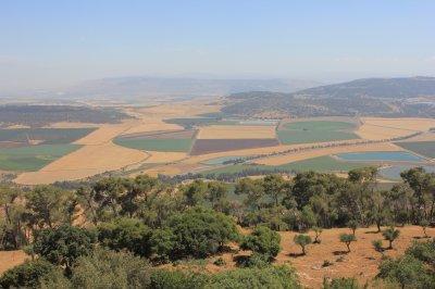 Вид с горы Фавор на Израильскую долину