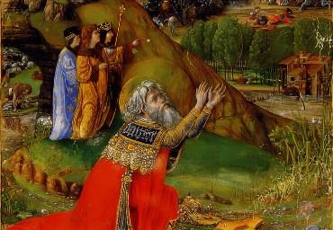 Покаяние Давида. Библия Матфея Корвина. Ок. 1490 г.